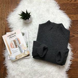 J. Crew Vintage Lambswool Mockneck Sweater